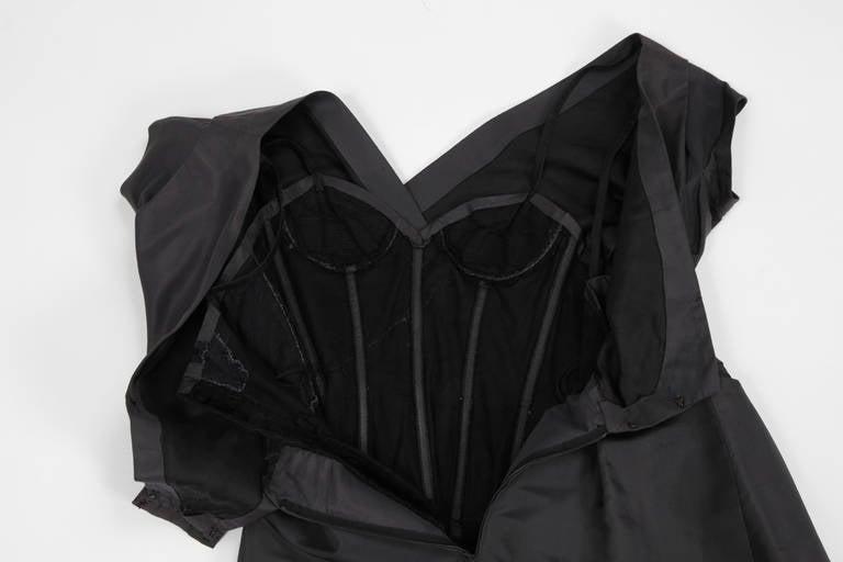 50's Christian Dior Boutique Taffeta Dress 03510 For Sale 4