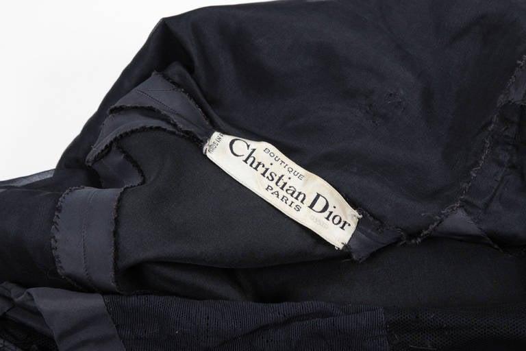 50's Christian Dior Boutique Taffeta Dress 03510 For Sale 5