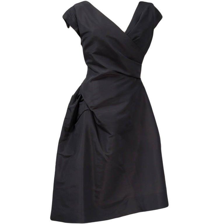 50's Christian Dior Boutique Taffeta Dress 03510 For Sale
