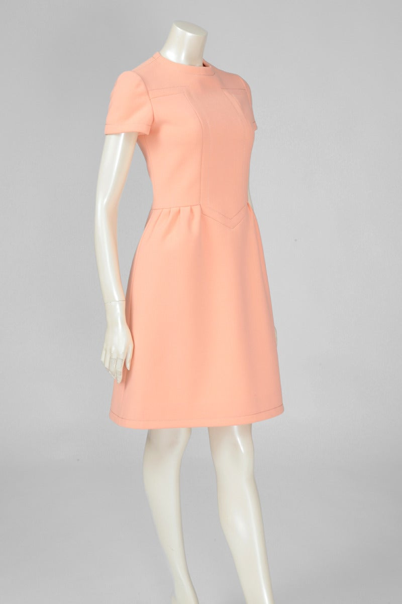 Jean-Louis Scherrer Wool Day Dress In Excellent Condition For Sale In Geneva, CH