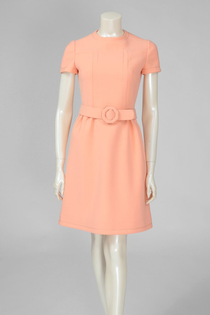 Jean-Louis Scherrer Wool Day Dress For Sale 3