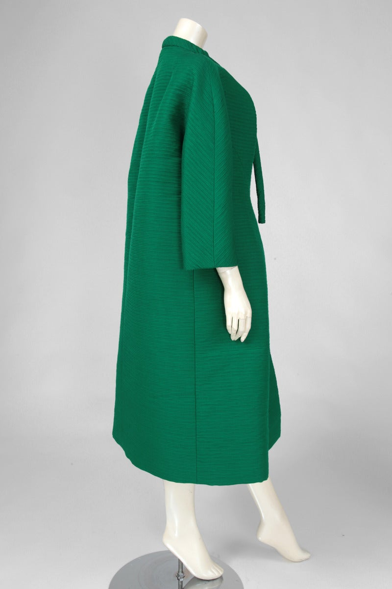 Givenchy Haute Couture Wool & Silk Cocoon Coat 8