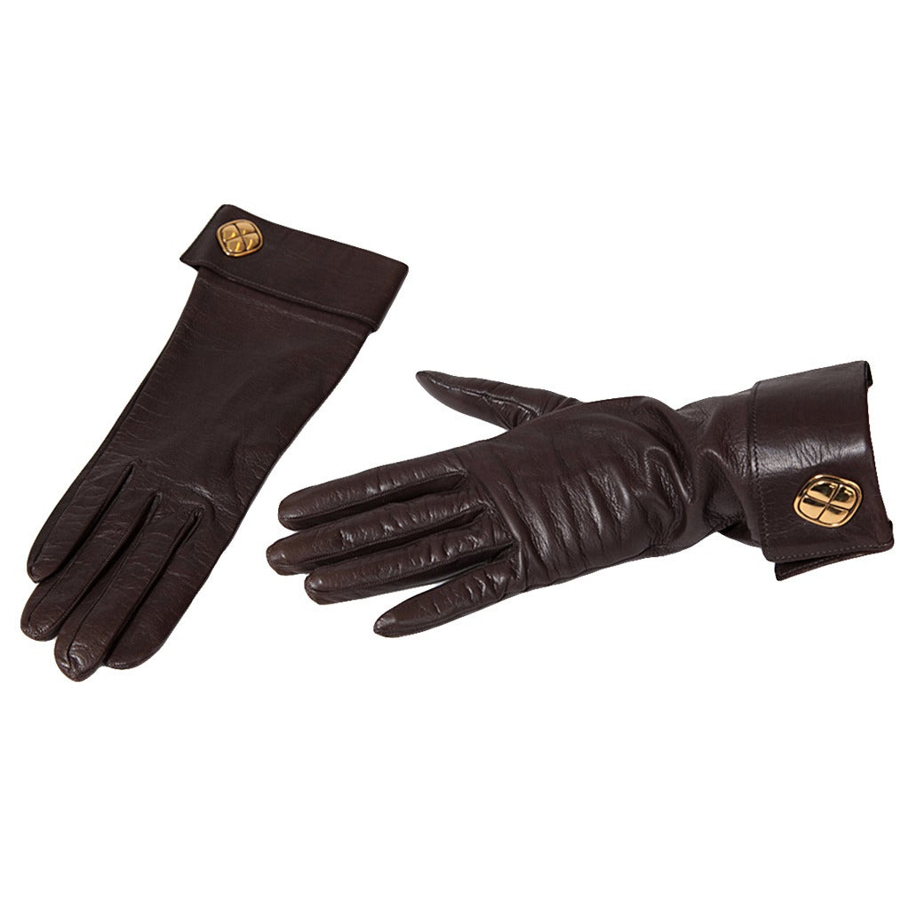 Chanel Leather Gloves at 1stdibs