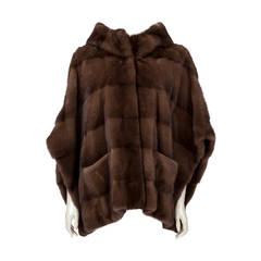 Yves Salomon Female Mink Coat & Hood