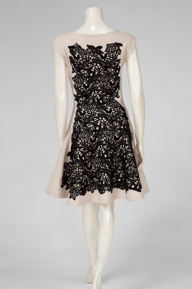 Women's Christian Dior Wool & Cashmere Sleeveless Skater Dress For Sale