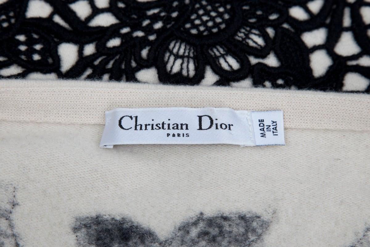 Christian Dior Wool & Cashmere Sleeveless Skater Dress For Sale 2