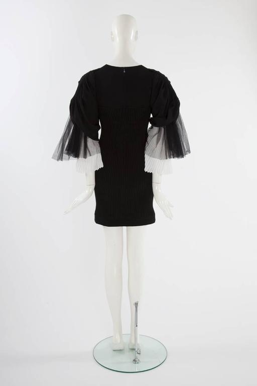 Chanel Runway Knit & Tulle Mini Dress, Spring-Summer 2009 For Sale 2