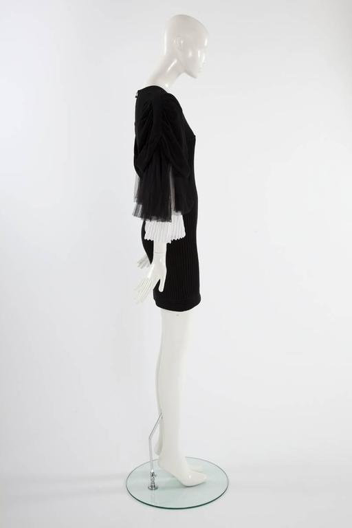 Chanel Runway Knit & Tulle Mini Dress, Spring-Summer 2009 For Sale 1