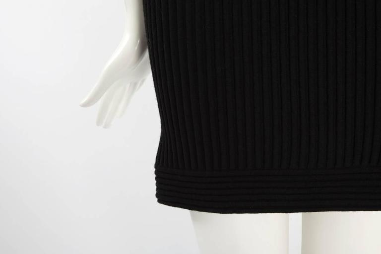 Black Chanel Runway Knit & Tulle Mini Dress, Spring-Summer 2009 For Sale