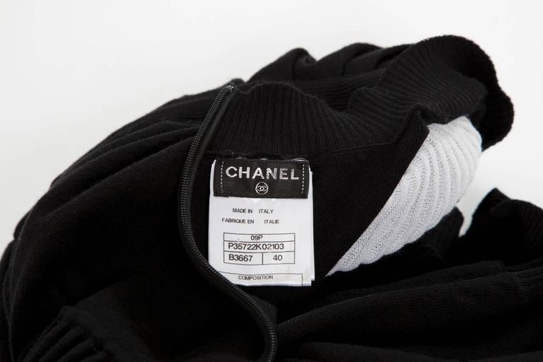Chanel Runway Knit & Tulle Mini Dress, Spring-Summer 2009 For Sale 5