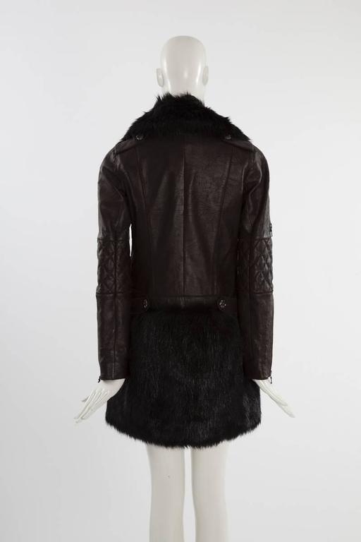 Chanel Runway Leather & Faux Fur Biker Coat, Fall-Winter 2010-2011 For Sale 1