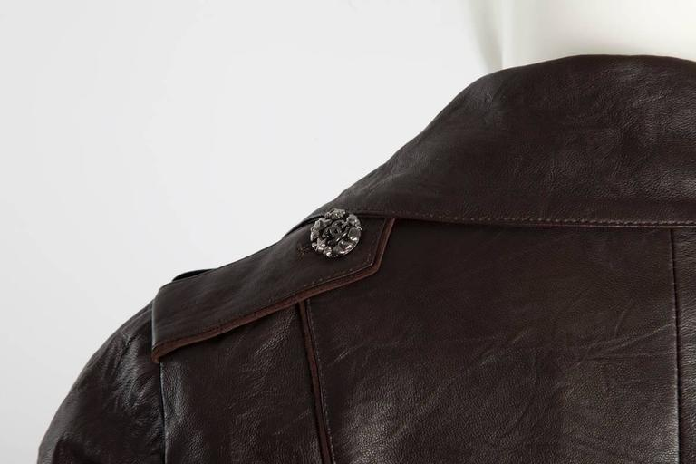 Chanel Runway Leather & Faux Fur Biker Coat, Fall-Winter 2010-2011 For Sale 3