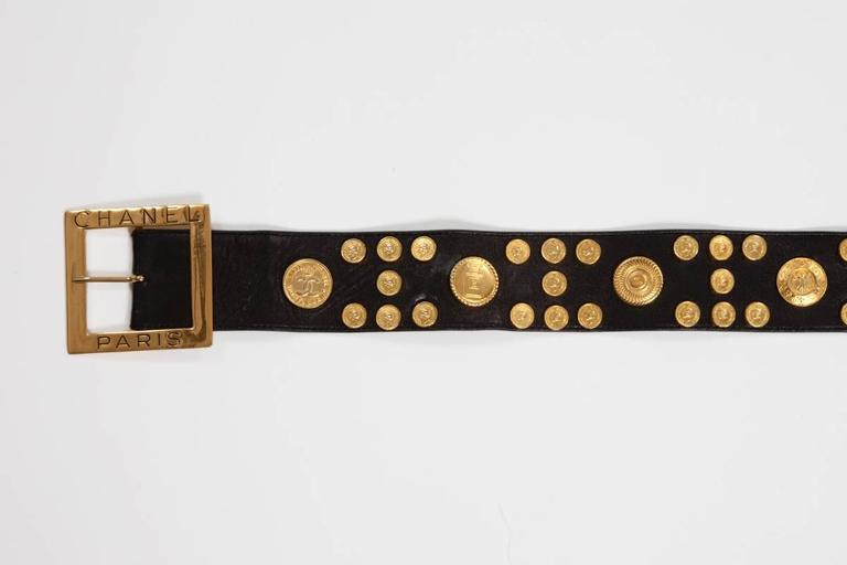 Women's Chanel Leather Coins Belt For Sale