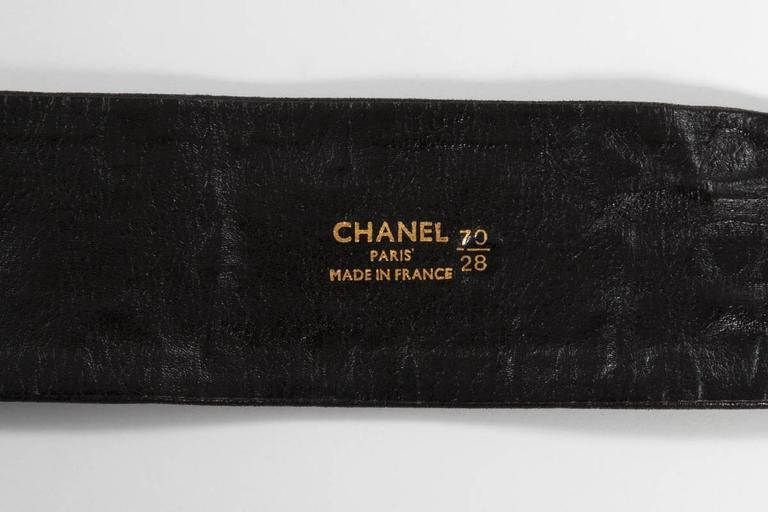 Chanel Leather Coins Belt For Sale 4