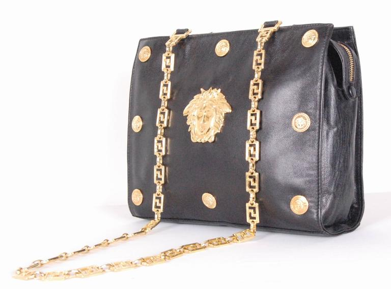 Gianni Versace Couture Medusa Leather Shoulder Bag At 1stdibs