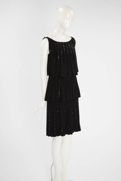 Hartnell Haute Couture Beaded Cocktail Dress, Circa 1960 In Excellent Condition For Sale In Geneva, CH