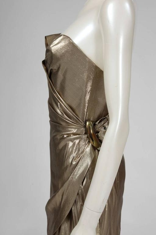 Thierry Mugler Lamé Cocktail Dress 4