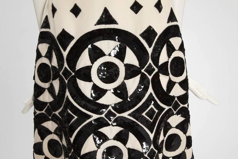 Black Valentino Haute Couture Embellished Cocktail Dress, Circa 1960 For Sale
