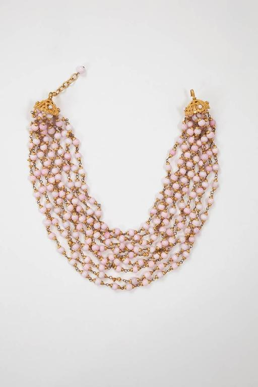 Women's 1993 Chanel Angel's Skin Coral Multi-Strand Necklace For Sale
