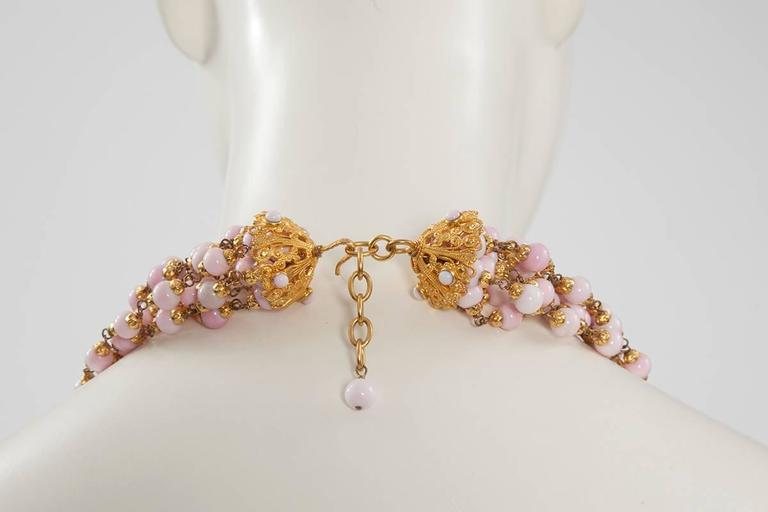 1993 Chanel Angel's Skin Coral Multi-Strand Necklace In Excellent Condition For Sale In Geneva, CH