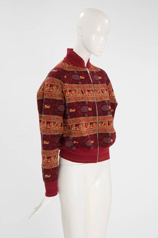 Alaia Wool Knit Zipped Bomber Jacket, Fall-Winter 1990-1991 5