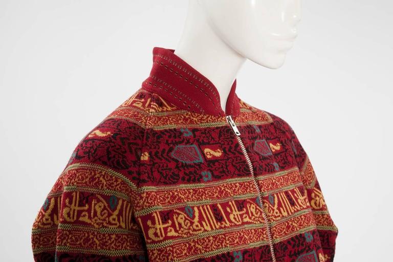 Alaia Wool Knit Zipped Bomber Jacket, Fall-Winter 1990-1991 6