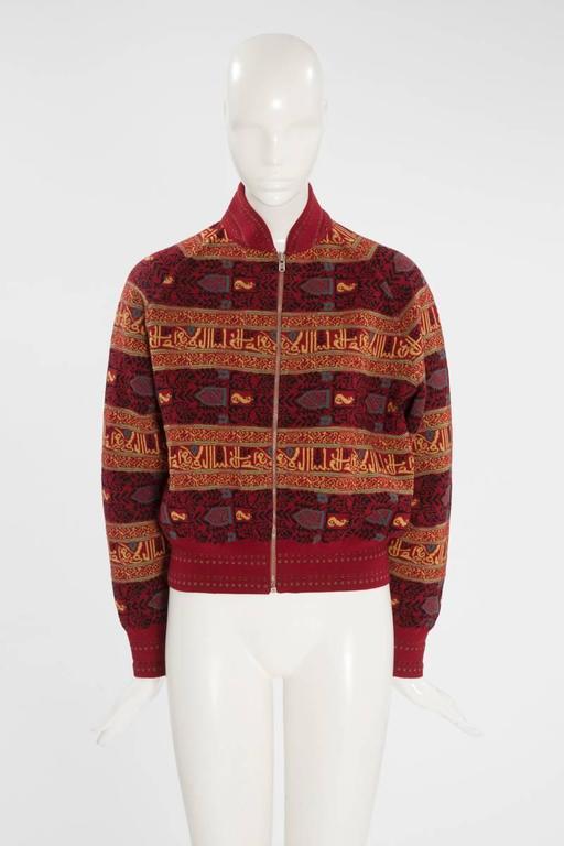 Alaia Wool Knit Zipped Bomber Jacket, Fall-Winter 1990-1991 2