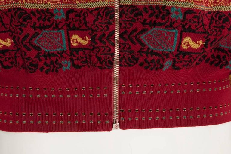 Alaia Wool Knit Zipped Bomber Jacket, Fall-Winter 1990-1991 4