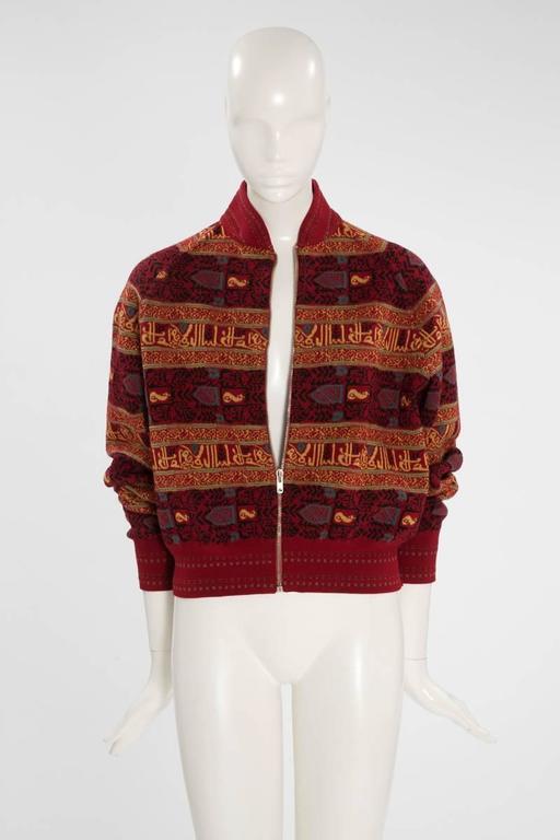 Alaia Wool Knit Zipped Bomber Jacket, Fall-Winter 1990-1991 3