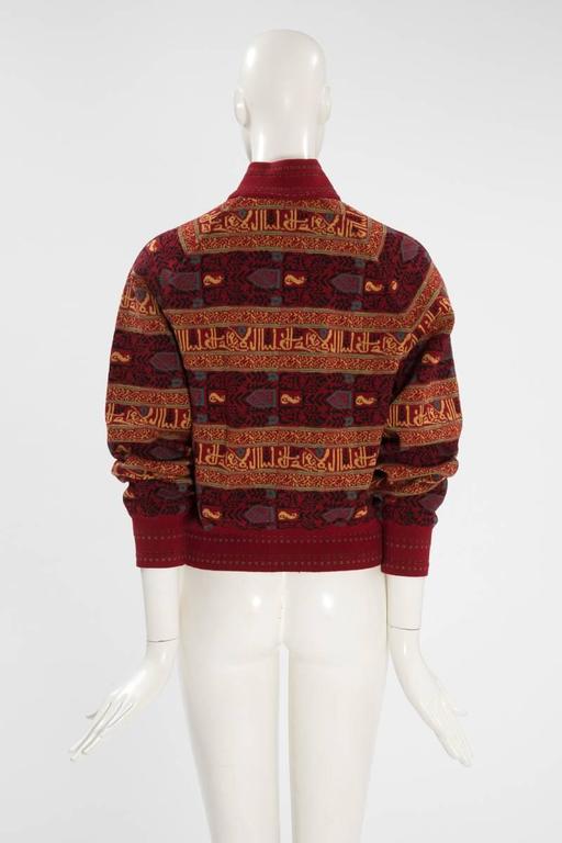 Alaia Wool Knit Zipped Bomber Jacket, Fall-Winter 1990-1991 7