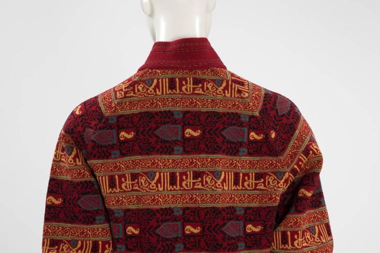 Alaia Wool Knit Zipped Bomber Jacket, Fall-Winter 1990-1991 8