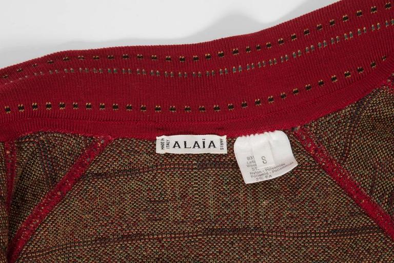 Alaia Wool Knit Zipped Bomber Jacket, Fall-Winter 1990-1991 9