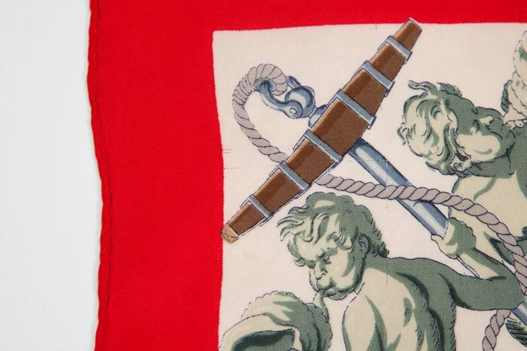 1959 Hermes L'Ocean Silk Twill Carré Scarf For Sale 1