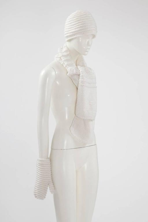 Gray Documented Courrèges Haute Couture Wool Set, Fall-Winter 1969-1970  For Sale
