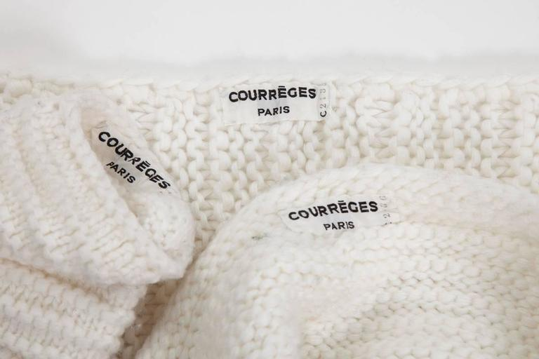 Women's or Men's Documented Courrèges Haute Couture Wool Set, Fall-Winter 1969-1970  For Sale