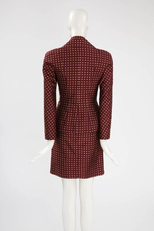 Christian Dior by John Galliano Runway Skirt Suit, Fall-Winter 1997-1998  For Sale 3