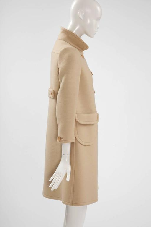 Women's Courreges Haute Couture Wool Coat, Circa 1965  For Sale