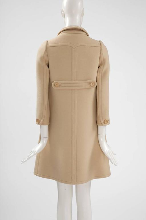 Courreges Haute Couture Wool Coat, Circa 1965  For Sale 1