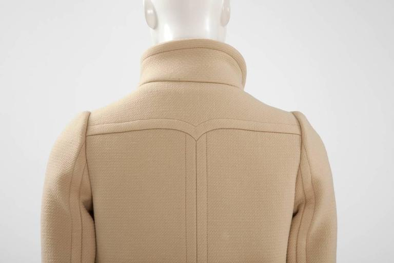Courreges Haute Couture Wool Coat, Circa 1965  For Sale 2
