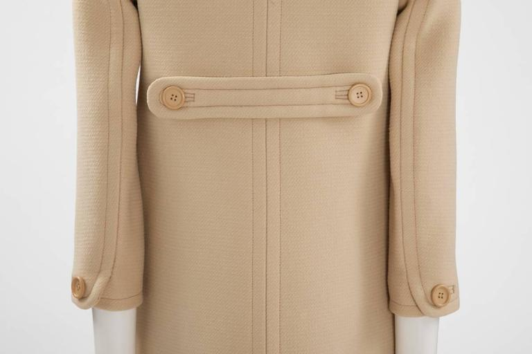Courreges Haute Couture Wool Coat, Circa 1965  For Sale 3