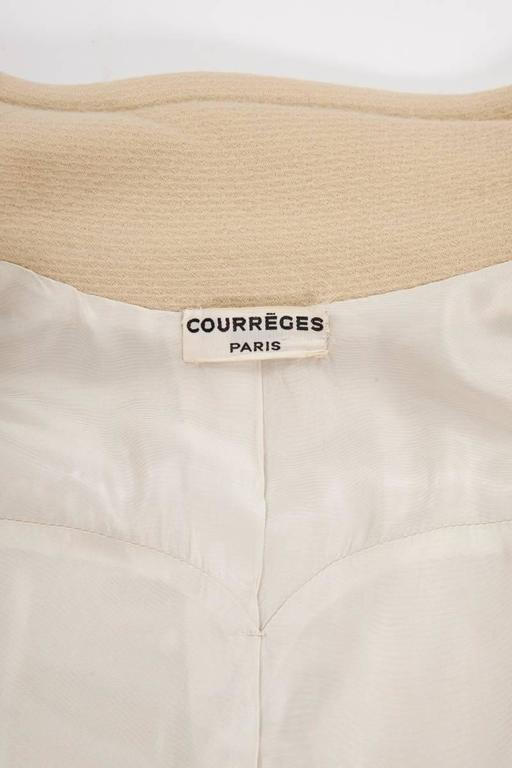 Courreges Haute Couture Wool Coat, Circa 1965  For Sale 5