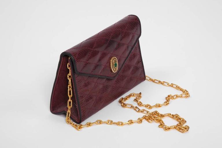 Black Chanel Embellished Lizard Bag  For Sale
