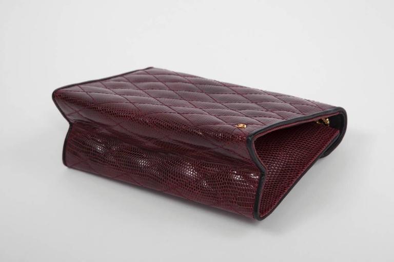 Chanel Embellished Lizard Bag  For Sale 1