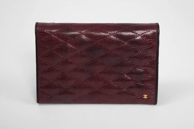 Chanel Embellished Lizard Bag  For Sale 2