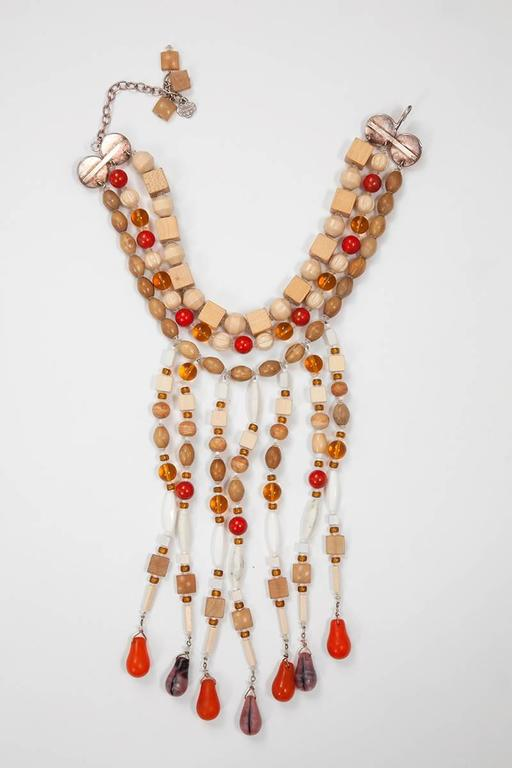 Yves Saint Laurent African Inspired Multi-Strand Necklace  For Sale 1