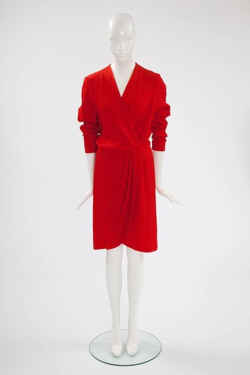Yves Saint Laurent Blistered Silk Dress 2