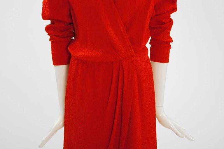 Yves Saint Laurent Blistered Silk Dress 3