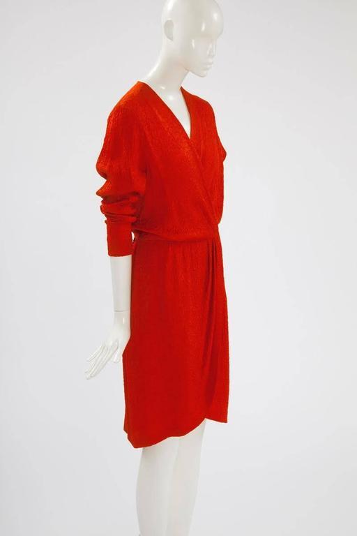 Yves Saint Laurent Blistered Silk Dress 4