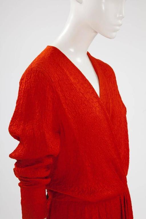Yves Saint Laurent Blistered Silk Dress 5