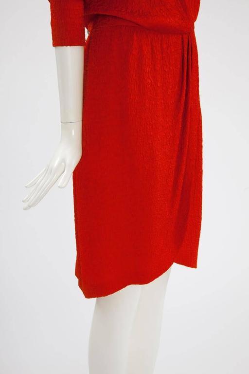 Yves Saint Laurent Blistered Silk Dress 6